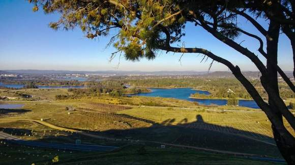 Lake Burley Griffin from Dairy Famers Hill, National Arboretum, Canberra.