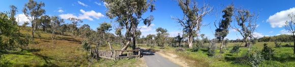Panorama of Aranda bike path, Belconnen, Canberra