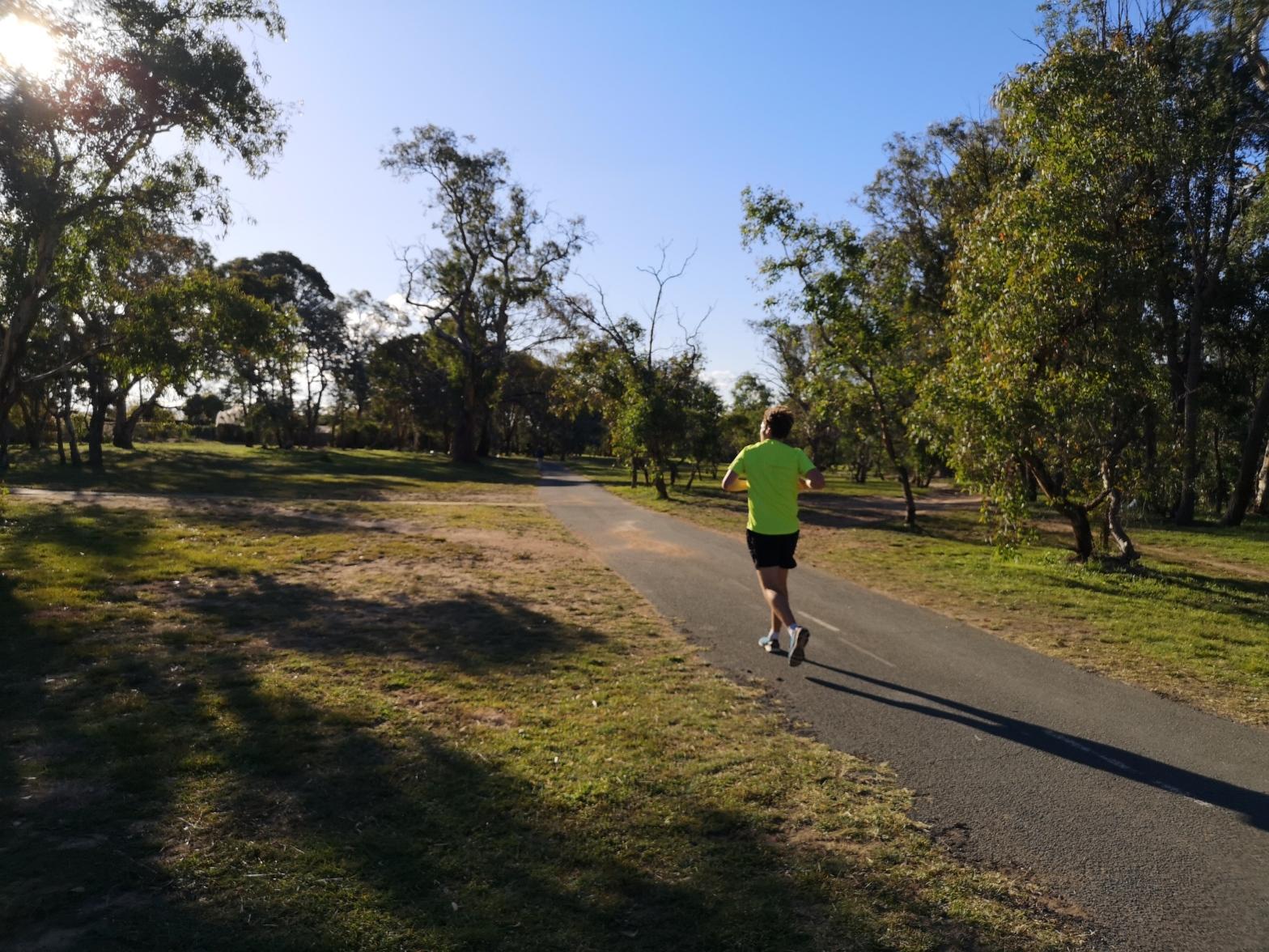 Aranda hill and bike path, Belconnen, ACT, Australia