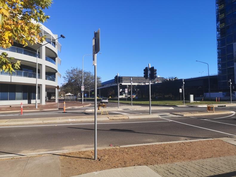 Intersection, Emu Bank, Belconnen Arts Centre, Lake Ginninderra, ACT, Australia