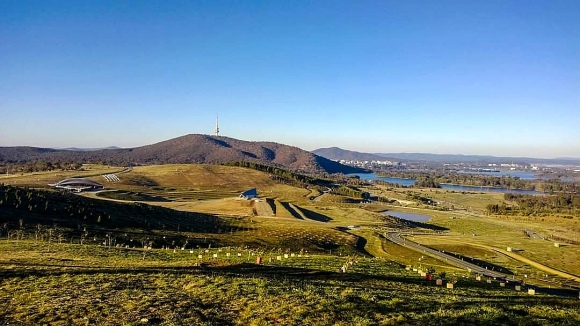 Black Mountain from Dairy Famer Hill, National Arboretum, Canberra.