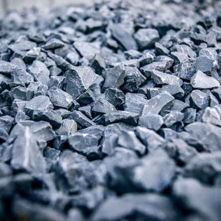 Blue metal gravel. Photo by Johnny Mckane on Pexels.com