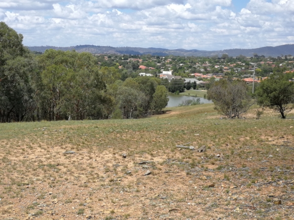 The ascent of Percival Hill from Gungahlin Pond, Gungahlin