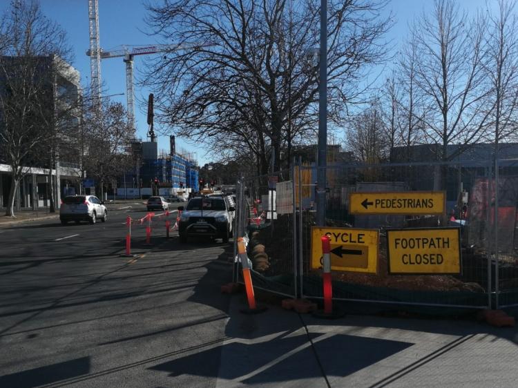 Belconnen art centre building construction