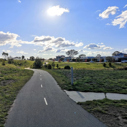 Crace bike path, Gungahlin, Canberra