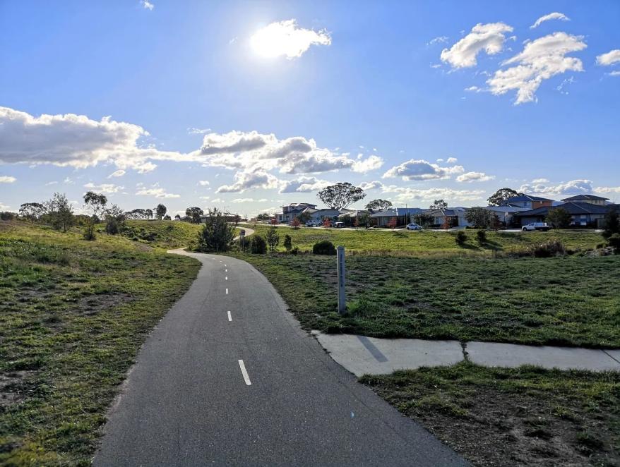 Crace bike path, Gungahlin, Canberra
