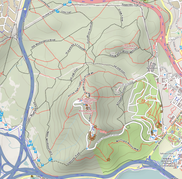 Example of a recreational map style with OpenStreetMap. Source 4UMaps.com Data CC-By-SA by OpenStreetMap