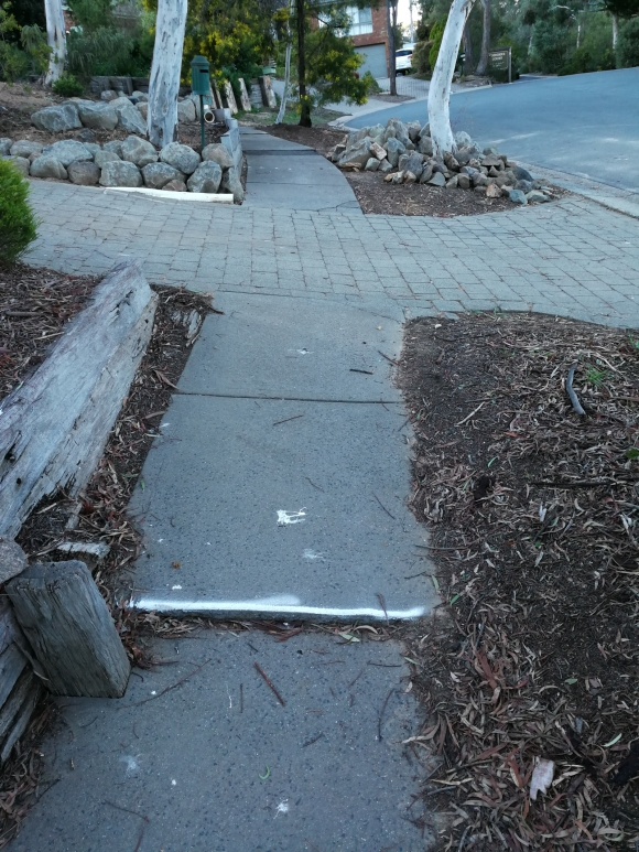 path safety example, Bruce, Canberra - reported via FixMyStreet