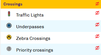 Lights, underpasses, zebra and priority crossing, Active Travel Infrastructure Practitioner Tool