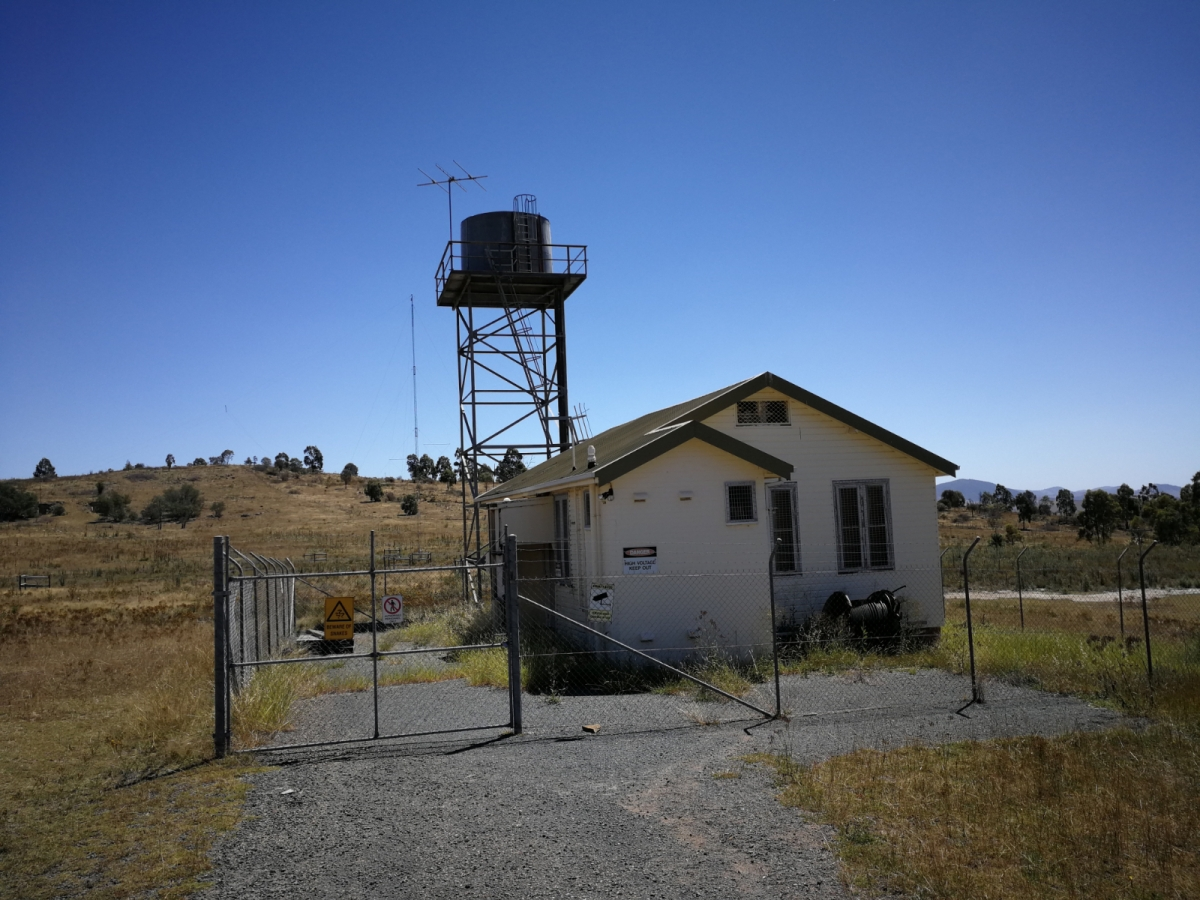Hut at the end of the ANU Ionospheric Trail, Mount Stromlo Forest, Western Canberra