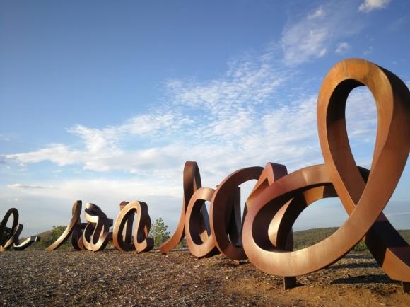 "Art ""Wide Brown Land"", Himalayan Cedar Hill, National Arboretum, Canberra."