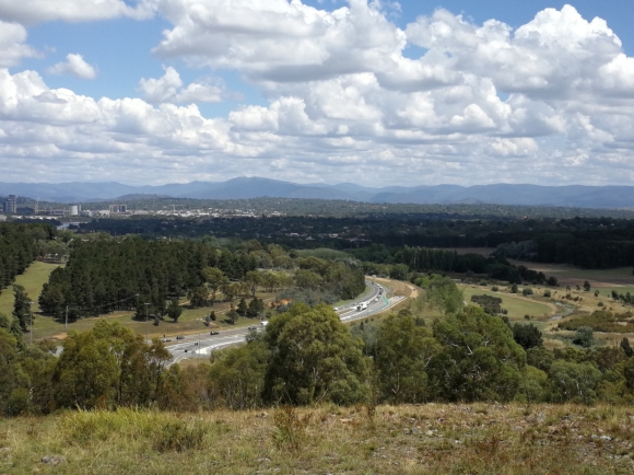 Percival Hill, looking towards Belconnen, Gungahlin