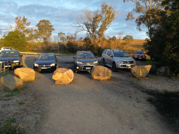 Car park, Shepherds Lookout walk, Woodstock Nature Reserve, Murrumbidgee River Corridor, Stockdill Drive, West Belconnen, Canberra