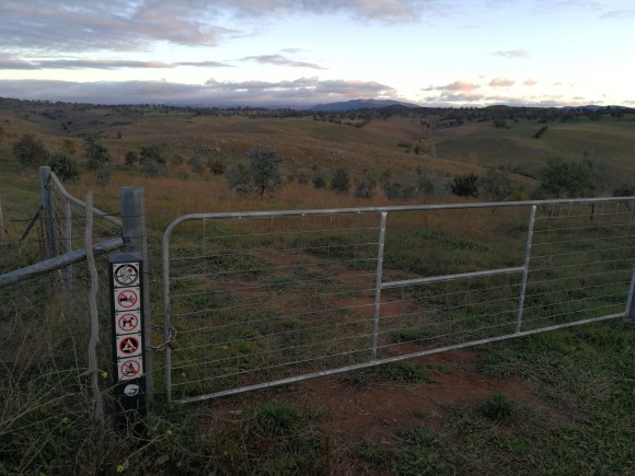 Gate, Lower Molonglo River Corridor, Molonglo River Reserve, Stockdill Drive, West Belconnen, Canberra