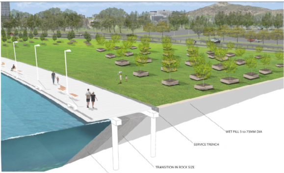 West Basin redevelopment, Lake Burley Griffin, NCA, ACT, Australia