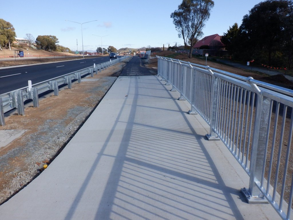 Replaced bike path on Gundaroo Drive between Gungahlin Drive and the Barton Highway.