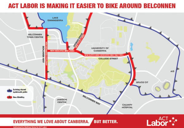ACT Labor 2016 Election Belconnen Bikeway