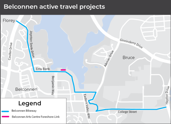 Belconnen Bikeway, AC Government, accessed 3 June 2020