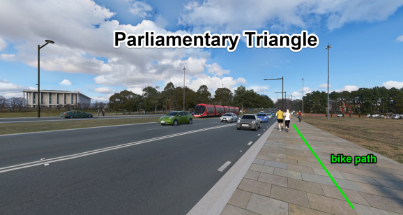 Parliamentary Triangle, Light Rail Stage 2A. ACT Government
