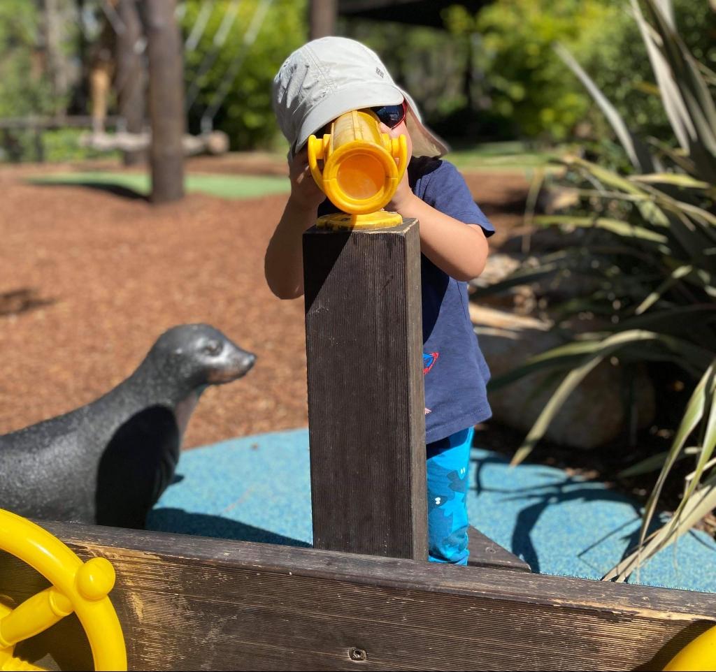 Child having fun at a playground.