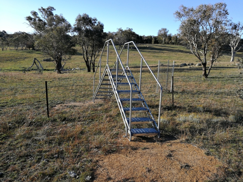 Pedestrian stile, The Pinnacle Offset Area, The Pinnacle, Belconnen