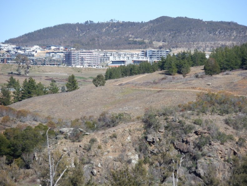 Denman Prospect and Mount Stromlo, Molonglo Valley, Canberra