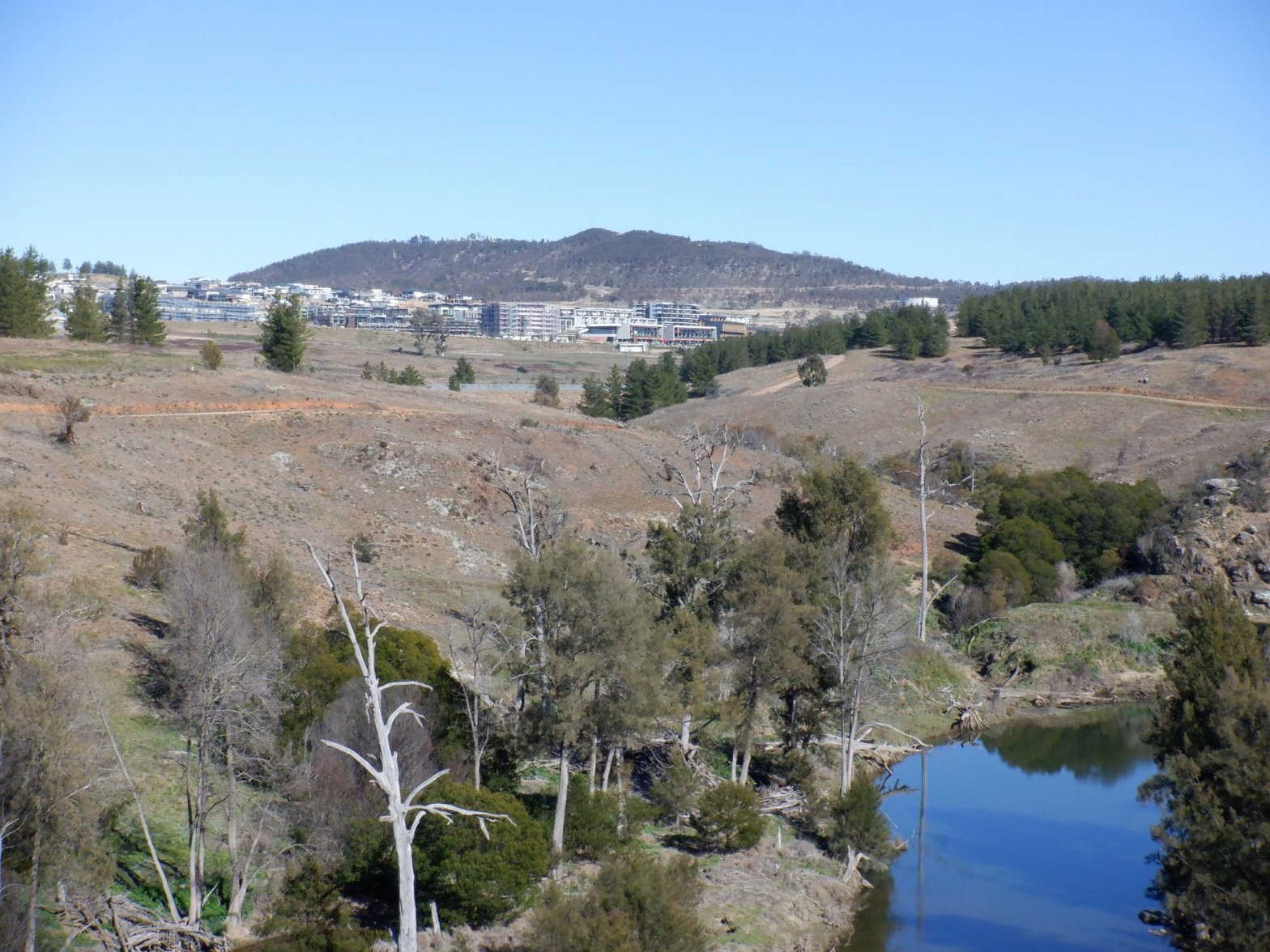 Denman Prospect from Butters Bridge, Molonglo River, Molonglo Valley, Canberra