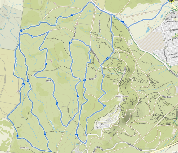 Denman Prospect and Stromlo West Komoot, Map data © OpenStreetMap contributors