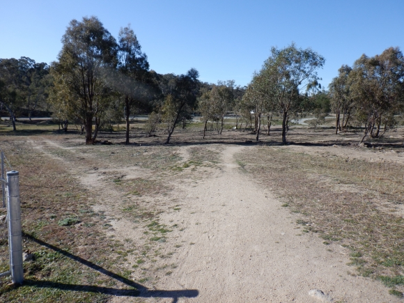 LInk track from bike path around, Urriarra Road car park, Stromlo Forest, Molonglo Valley