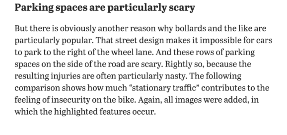 Parking spaces are scary. Berlin safe street survey