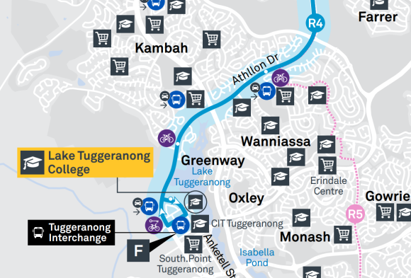 R4 Tuggeranong Interchange - Suburbs Kambah, Greenway, Oxley