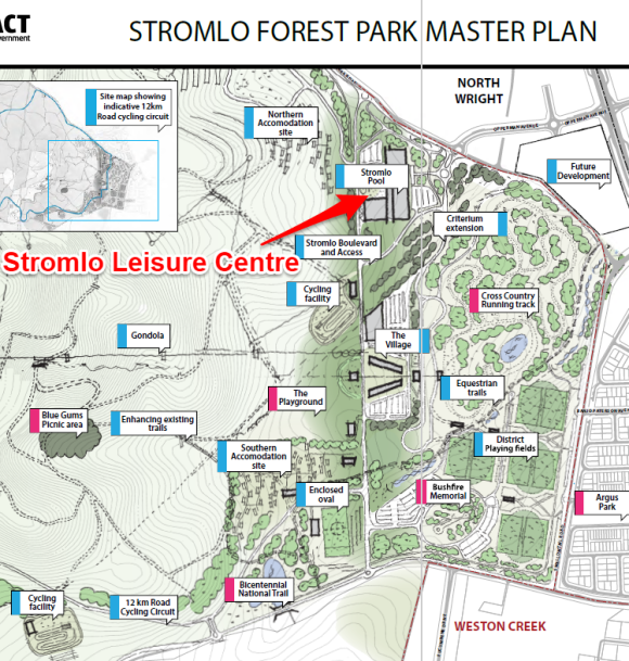 Stromlo Leisure Centre, Stromlo Forest Park Master Plan, Molonglo Valley