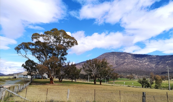 Mount Tennant from Smiths Road, Tharwa, ACT.