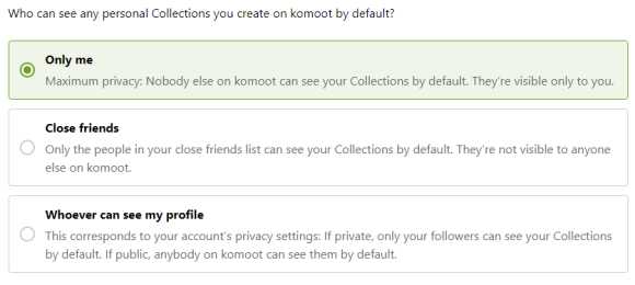 Komoot Collections default