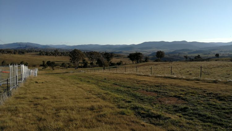 View of Brindabella Range, Bicentennial National Trail, Straithnairn, ACT