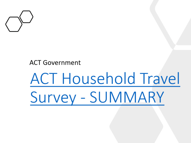 ACT and Queanbeyan-Palerang Household Travel Survey (ACTQP HTS), ACT Government 2017