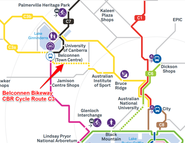 CBR Cycle Route C3 - Belconnen Bikeway