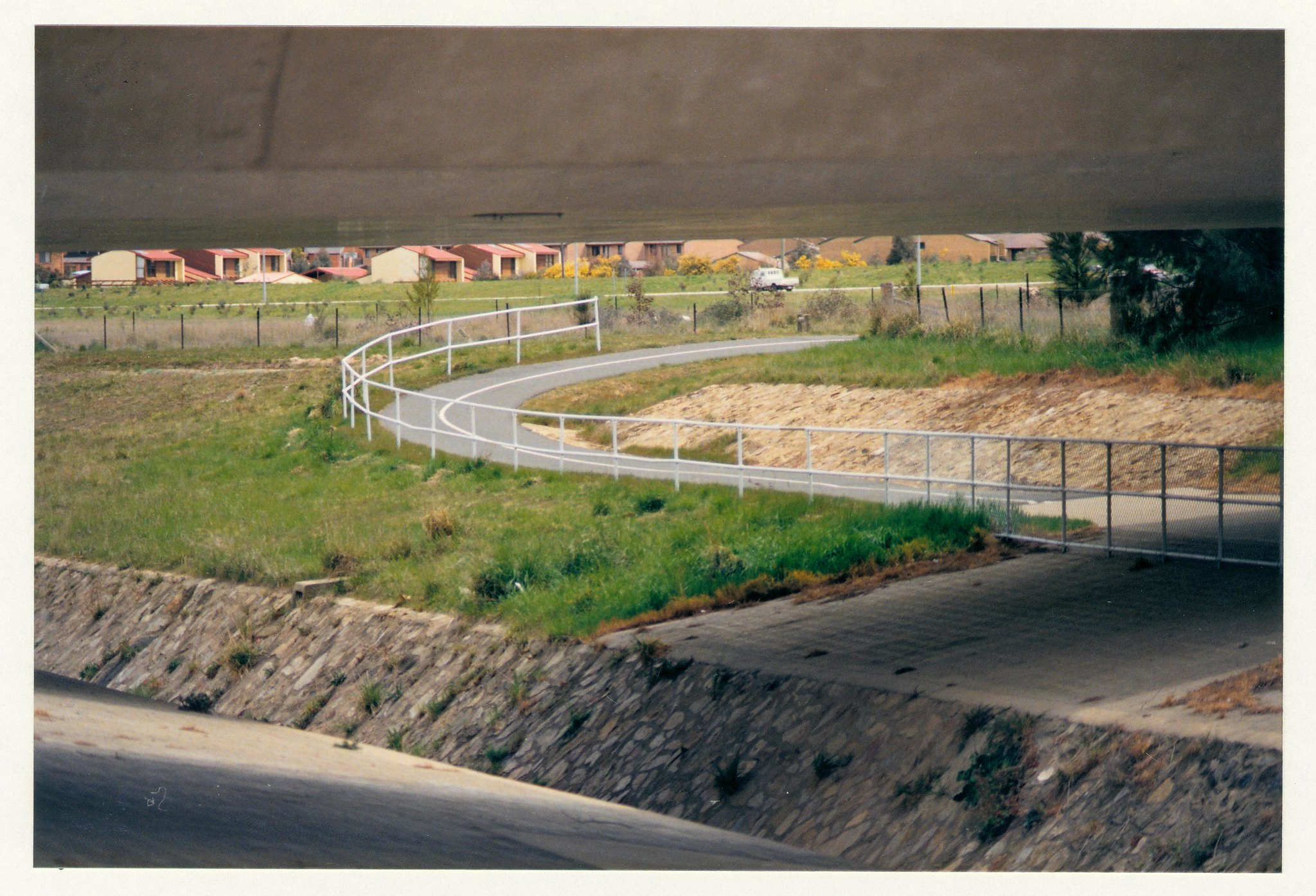 Drakeford Drive underpass looking towards Kambah. c1989
