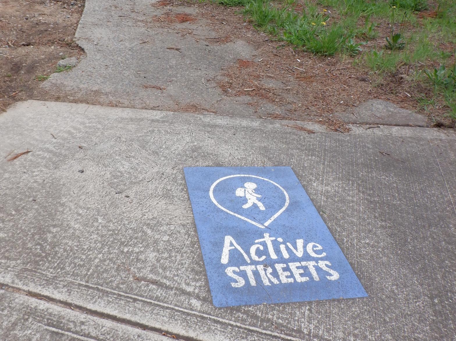 Active Street sign close to Evatt shops, Belconnen