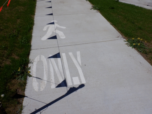 Pedestrian only path, Cooinda Street / College Street. Belconnen Bikeway under construction, stand 11/10/2020