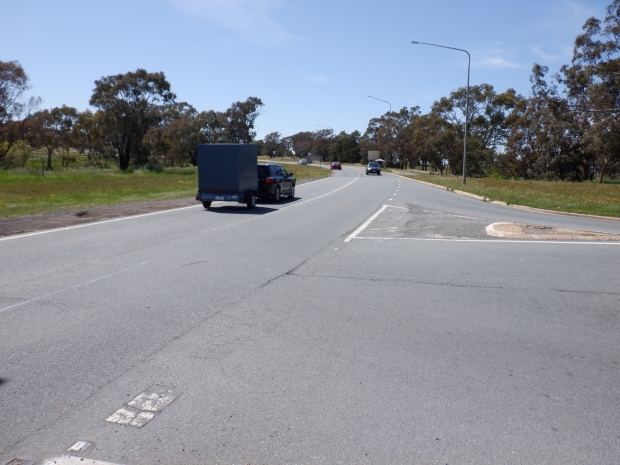 Yet to start. Kuringa Drive and Owen Dixon Drive intersection, Belconnen. Stand 11/10/2020