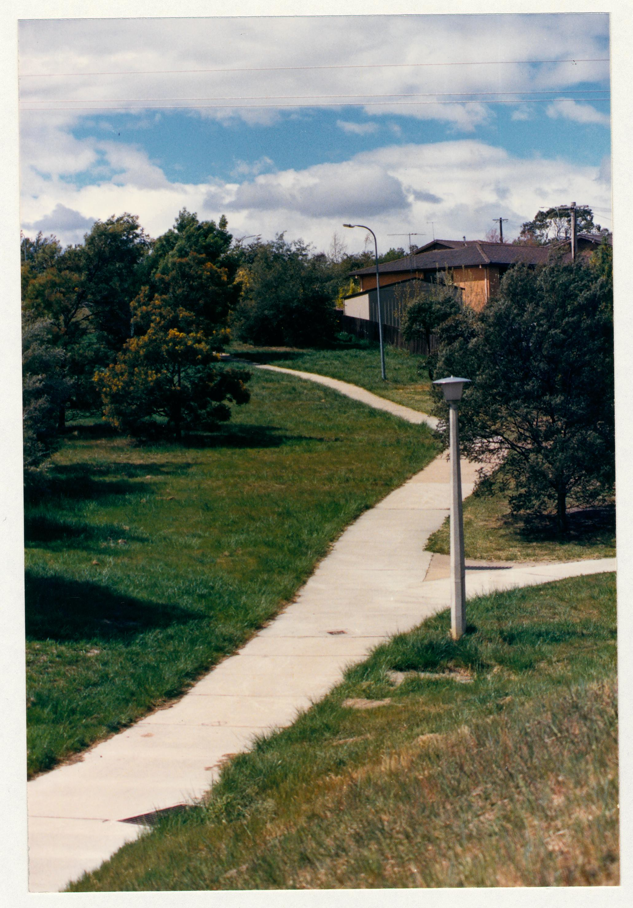 Gowrie feeder path from Ashley Drive. c1989