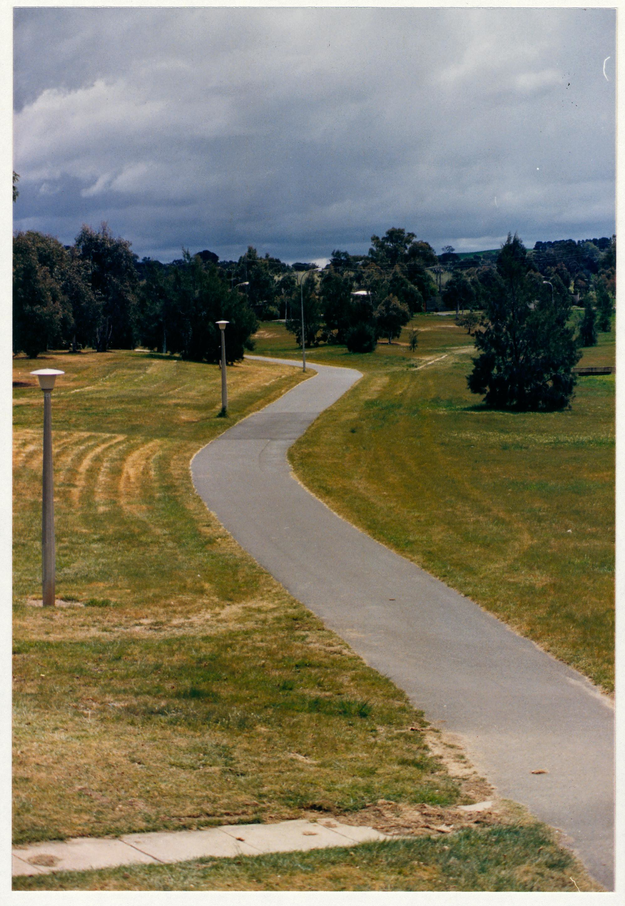 Kambah District Playing Fields looking north from O'Halloran Circuit. c1989