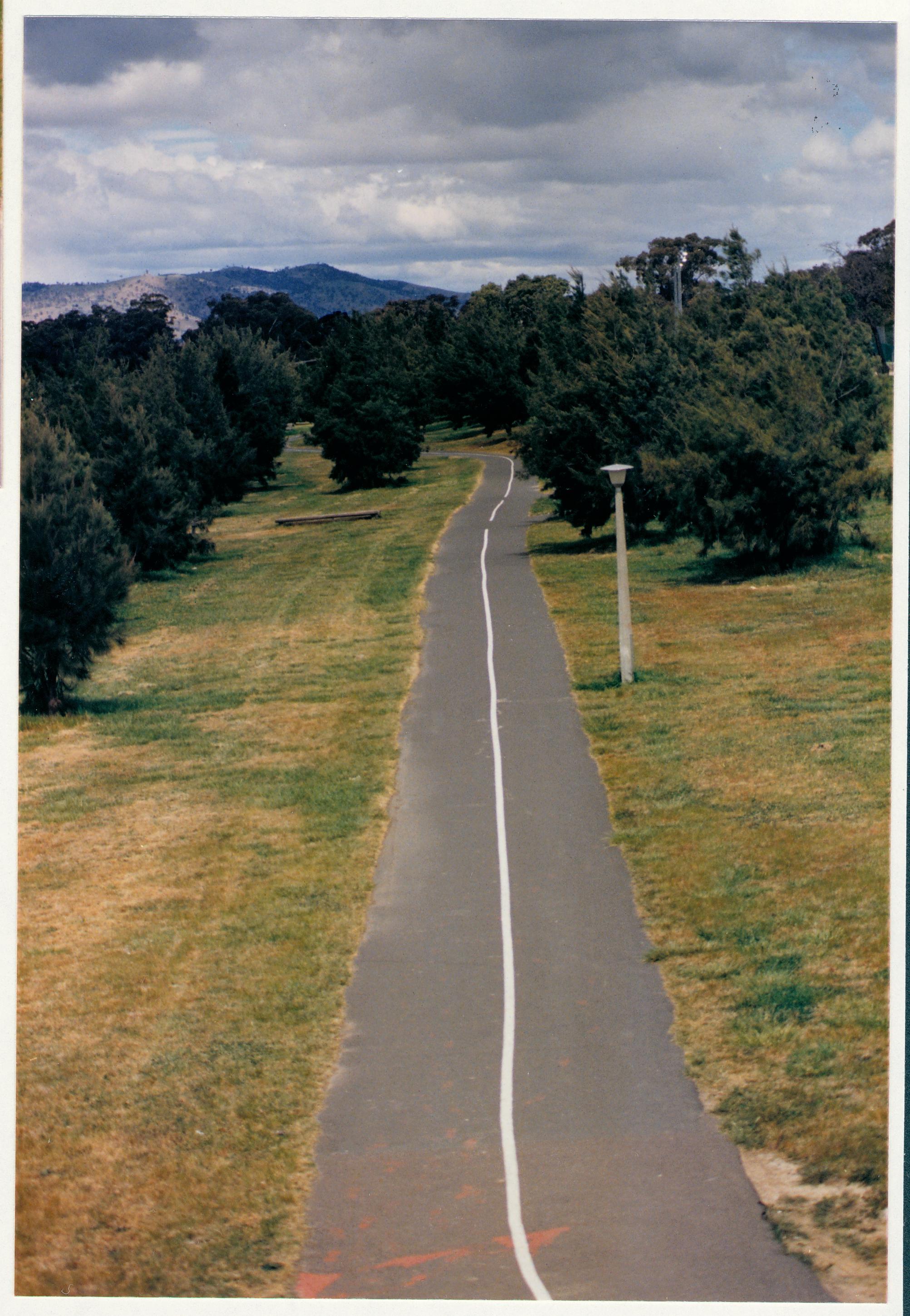 Kambah looking south from O'Halloran Circuit. c1989