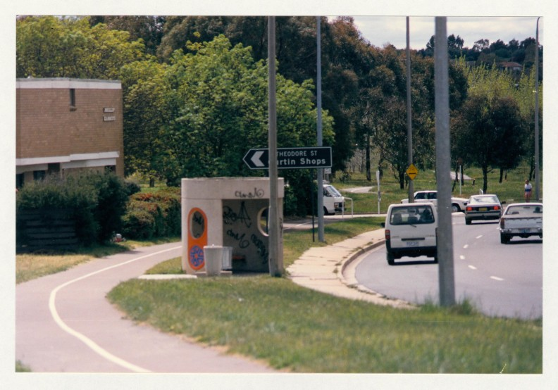 Melrose Drive, Theodore Street crossing. c1989