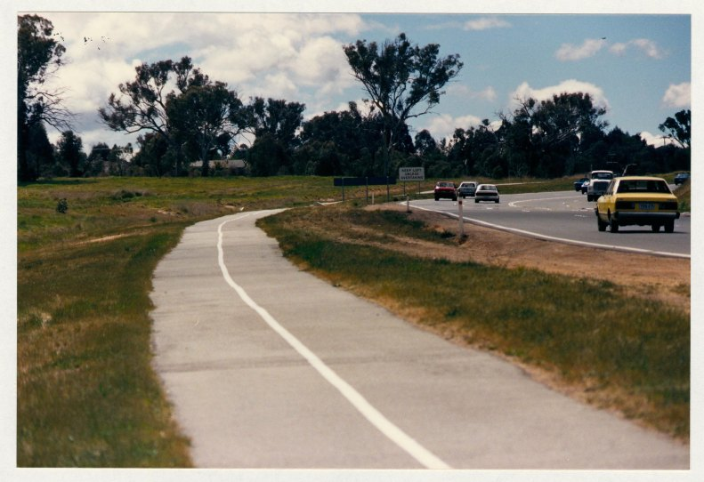 Tuggeranong Parkway looking north from Sulwood Drive. c1989