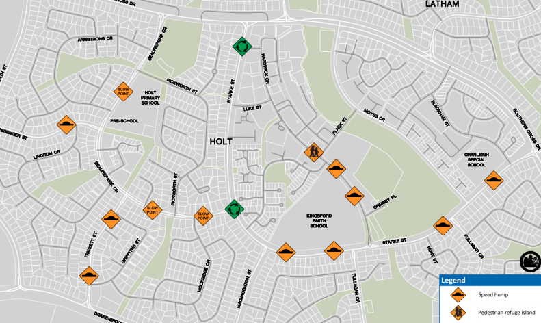 Holt Residential street improvements, ACT Government, February 2019