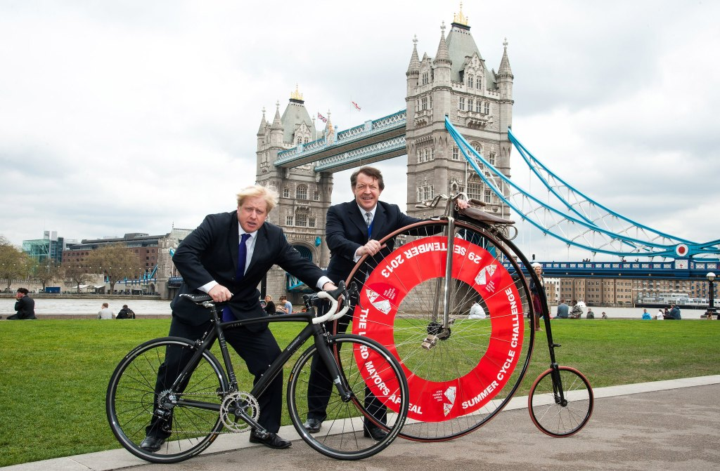 The two Mayors (Boris Johnson and Roger Gifford), London, UK