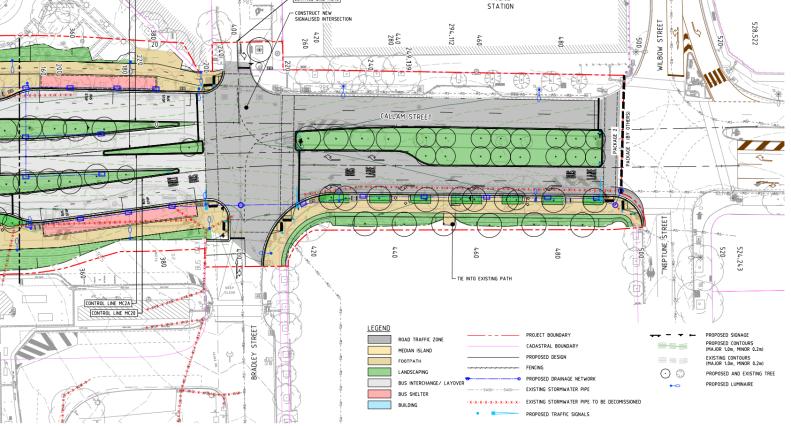 New Woden public transport terminus, Callam Street, Woden Valley