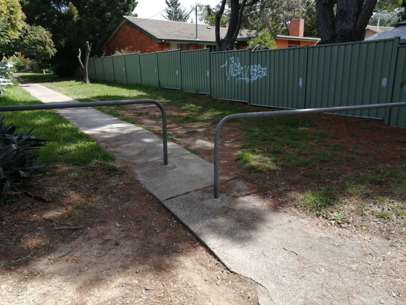 Cycle barrier, adjacent to Cycle Route C5, Aranda, Belconnen